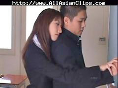 Asian, Japanese, Handjob, Swallow