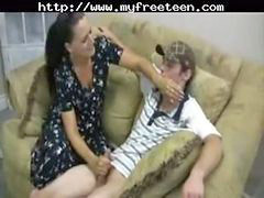 Amateur, Teen, Handjob, Mother