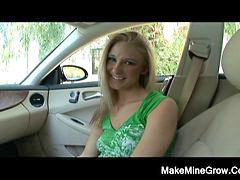 Natalie, In car, Alie, The blonde, Suck in the car, Sucking in the car