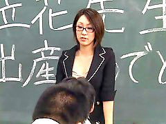 Lactating, Teacher, Student, Spit, Japanese teacher