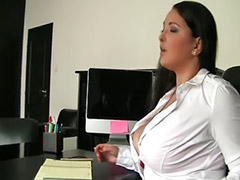 Secretary, Chubby, Russian, Big tits
