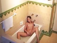 U tub, In tub, Brunette solo masturbating, Brunette solo girl, Tub masturbation