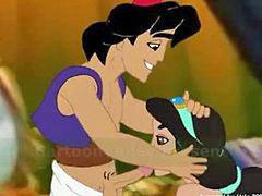 Jasmine, Jasmin z, Genie, Aladdin x, Abuée, Jasmine z
