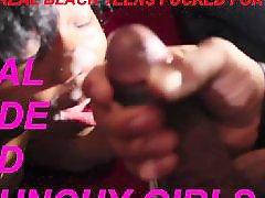 Black, Ebony teen, Cumshot, Teen