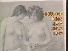 Vintage, Student, Lesbian, Vintage lesbian, Girly, 50