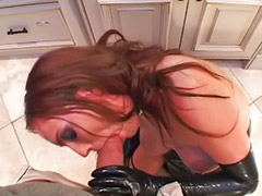 Boots, Anal in latex, Cum 3 times, Helps, Helping to cum, Deepthroat anal