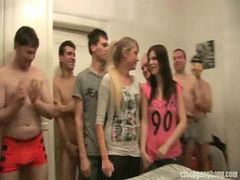 Czech, Sister, Gang bang