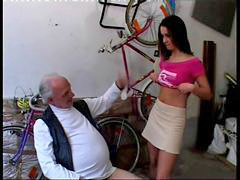 Old man, Money, Repair man, Bike, Teen old, Mone