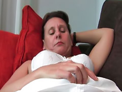 Hairy mature, Mature masturbation