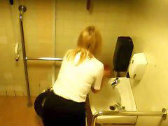 Voyeur, Toilet girls, Toilet girl, Rusıa, Rusės, Office toilet