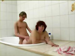 Bbw, Boy, Bath, Boys, Mature