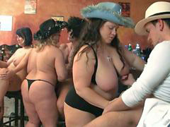 In bar, Bar, Orgy bbw, Group orgy, Orgy group, Fatties