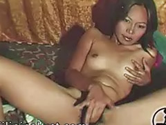 Asian, Masturbation, Hairy solo, Amateur, Webcam, Hairy
