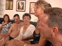 Granny, Orgy, Party, Grannies, Milf