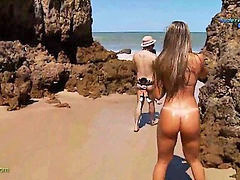 Nudist, Funny, Beach, Reporter, Nudist beach, Nudisták