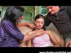 Teen, Dad, Mom, Hot mom
