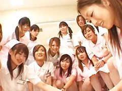 Asian, Nurse, Japanese nurse, Japanese, Asian gangbang
