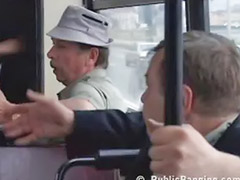 Bus, Public blowjob, Public in bus, Public cumming, Public bus sex, Sexes bus