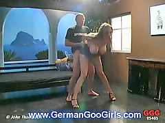 German, Busty, Threesome