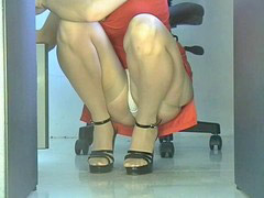 Upskirt, Upskirts, Squat, Ups skirt, Squating, Office girls