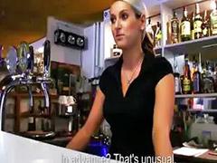 Bubble butt, Barmaid, Paid sex, Bubble butts, Public pov blowjob, Public pov