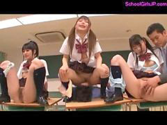 Ass, School for girls, Guy and guy, In classroom, The classroom, Schoolgirl fingered