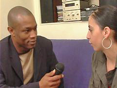 Interviewer, Leades, Leaded, Lead to, Interracial fuck, Interracial fucking