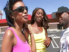 Threesome, Teen sex, Ebony teen, Teen, Black, Black teen