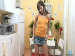 Nikki, Kitchen teen, Vibed, Teen kitchen, Nubile teens, Nubil